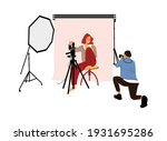 Photographer Shooting Model In...