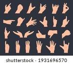 hand gestures. cartoon human... | Shutterstock .eps vector #1931696570