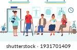 people wait in hospital....   Shutterstock .eps vector #1931701409