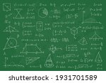 chalkboard with math equation.... | Shutterstock .eps vector #1931701589