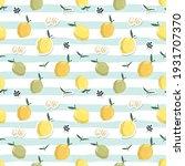 summer seamless pattern with... | Shutterstock . vector #1931707370