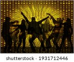 dancing people silhouettes.... | Shutterstock . vector #1931712446