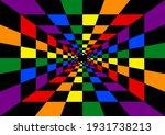 Lgbt Rainbow Flag Pattern With...