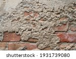 old grunge cracked wall... | Shutterstock . vector #1931739080