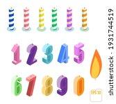 set of isometric birthday... | Shutterstock .eps vector #1931744519