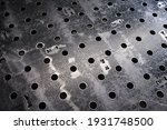 Metal Workbench With Many Holes ...