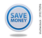 save money circular icon on... | Shutterstock . vector #193175096