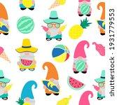 cute summer gnome  vector... | Shutterstock .eps vector #1931779553