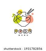 poke bowl hawaiian cuisine... | Shutterstock .eps vector #1931782856