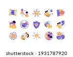 vector editable stroke line... | Shutterstock .eps vector #1931787920