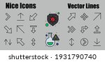 set of line arrows   directions ... | Shutterstock .eps vector #1931790740