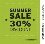 summer promotional design... | Shutterstock .eps vector #193180043