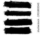 black paint brush strokes ... | Shutterstock .eps vector #1931803343