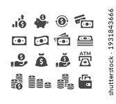 money or financial vector icon... | Shutterstock .eps vector #1931843666