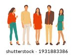 set of young men and women ... | Shutterstock .eps vector #1931883386