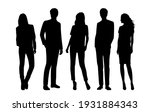 vector silhouettes of  men and... | Shutterstock .eps vector #1931884343