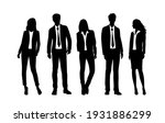 vector silhouettes of  men and... | Shutterstock .eps vector #1931886299