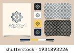 elegant moroccan ornament logo... | Shutterstock .eps vector #1931893226