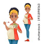 beautiful african american...   Shutterstock .eps vector #1931898563