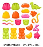 jelly gummy candy sweets vector ... | Shutterstock .eps vector #1931912483