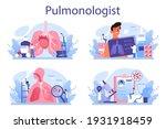 pulmonologist set. idea of... | Shutterstock .eps vector #1931918459