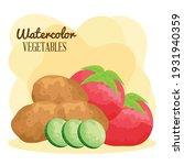 watercolor lettering and vegan...   Shutterstock .eps vector #1931940359