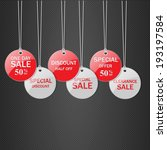 set of  tags for sale. | Shutterstock .eps vector #193197584