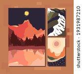 minimalist landscapes banners... | Shutterstock .eps vector #1931987210