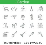set with garden icons vector...   Shutterstock .eps vector #1931993360