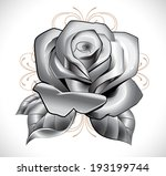rose  leafs and background on... | Shutterstock .eps vector #193199744