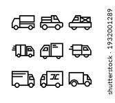 delivery icon or logo isolated... | Shutterstock .eps vector #1932001289