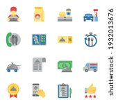 food delivery service flat icon ... | Shutterstock .eps vector #1932013676