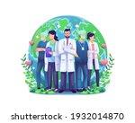 world health day illustration... | Shutterstock .eps vector #1932014870