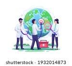 doctors check the health world... | Shutterstock .eps vector #1932014873