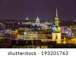 Night View From Prague Town...