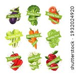 healthy organic food sticker... | Shutterstock .eps vector #1932024920