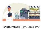 smart vegetable farm  flat...   Shutterstock .eps vector #1932031190