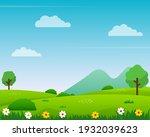 nature landscape vector... | Shutterstock .eps vector #1932039623