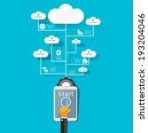 cloud computing concept design. | Shutterstock .eps vector #193204046