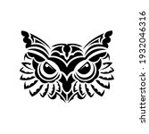 the face of an owl from the...   Shutterstock .eps vector #1932046316