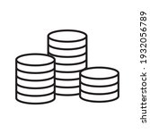 coins stack vector illustration.... | Shutterstock .eps vector #1932056789