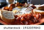 full english breakfast served... | Shutterstock . vector #1932059843