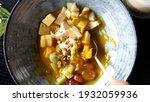 eating healthy breakfast... | Shutterstock . vector #1932059936
