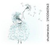 fashion vector female... | Shutterstock .eps vector #1932060563
