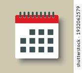 icon page calendar schedule.... | Shutterstock .eps vector #1932062579