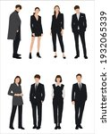 vector of young businessman and ... | Shutterstock .eps vector #1932065339