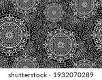 seamless traditional black and... | Shutterstock .eps vector #1932070289