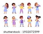 children drink. little boys and ...   Shutterstock .eps vector #1932072599