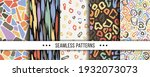 set of abstract seamless... | Shutterstock .eps vector #1932073073
