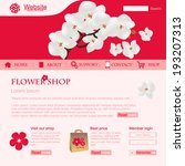 website template for flower... | Shutterstock .eps vector #193207313